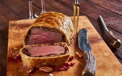 Filet Wellington met pecannoten en cranberries